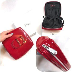 Auc Dior Trousse Pouch cosmetic Red bag NWT